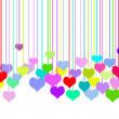 Royalty-Free Stock Photo: Hanging colorful hearts