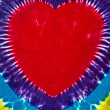 Stock Photo: Retro tie dye heart