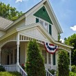 Patriotic Farmhouse — Foto Stock