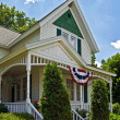 Patriotic Farmhouse — Stock Photo
