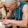 Native AmericTattooist — Stock Photo #11447549