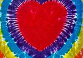 Retro tie dye heart — Stock Photo