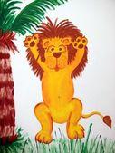 Happy lion — Stock Photo