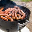 Stock Photo: Bratwurst grilling