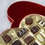 Valentine Chocolates in heart box — Stock Photo #11476214