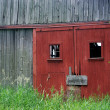 Red barn door — Stock Photo #11476397