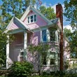 Stock Photo: Pink Victorian House