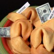 Stock Photo: Money in fortune cookies