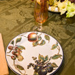 Stock Photo: Formal floral dinnerware