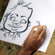 Caricature drawing - Stock Photo