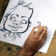 Caricature drawing — Stock Photo