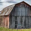 Stock Photo: Dilapidated old barn