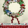 Royalty-Free Stock Photo: Christmas card wreath