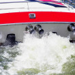 Power boat wake - Stock Photo