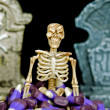 Skeleton in corn candy — Stock Photo #11533565