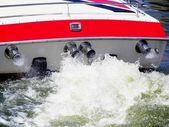 Power boat wake — Stock Photo