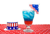 Patriotic drink with hat — Stock Photo