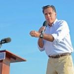 Mitt Romney campaigning — Stock Photo