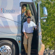 Royalty-Free Stock Photo: The Romneys leaving the bus