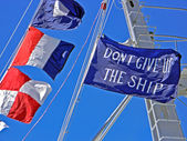 Парусник флаги — Стоковое фото