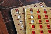 Vintage bingo card — Stock Photo