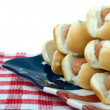 Hot Dog Plate — Stock Photo