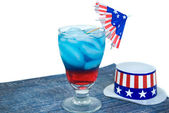 Patriotic drink for holiday — Stock Photo