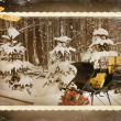 Vintage Christmas sleigh — Photo