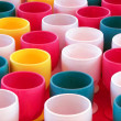 Colorful plastic cups — Stock Photo