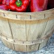 Stock Photo: Red Peppers in basket