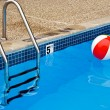 Beach ball in pool — Stock Photo