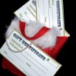 Gift certificates in stocking — Zdjęcie stockowe