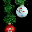 Hanging holiday ornaments — Stock Photo #11762481