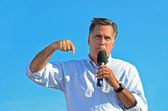 Mitt Romney campaigning — Stock Photo