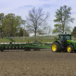Tractor with Seed Drill — Stock Photo