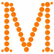Vettoriale Stock : Letter - M made from orange