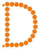 Letter - D made from orange — Stock Vector