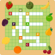 Fruit crossword — Stock Vector