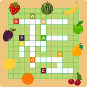 Fruit crossword — Stok Vektör