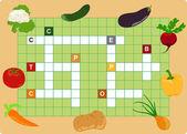 Gemüse-kreuzworträtsel — Stockvektor