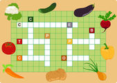 Vegetable crossword — 图库矢量图片