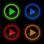 juego brillante web vector botones redondos — Vector de stock
