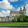 Cathedral Na Skalce in Cracow, near Vistula river in Krakow — Stock Photo