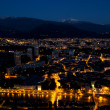 Grenoble by night - view from Bastille - Stock Photo