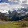 Panorama of the Silvretta Alps mountain range in summer — Stock Photo