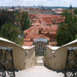 Prague View from Small Furstenberg Garden — Stock Photo