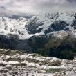 South Tirol Alps Panorama with Dusseldorfer Hut — Stock Photo #11078647