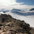 Mountain Ridge in the Svalbard Archipelago in the Arctic — Stock Photo