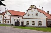 Holasovice - traditional central European village building — Stock Photo