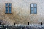 Frozen Windows of Old Building (Still life) — 图库照片
